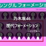 【乃木坂46】全シングルの歴代フォーメーション/センター