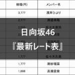 【日向坂46】生写真 最新レート表 まとめ
